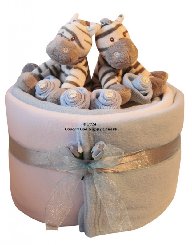 Baby Gift Basket For Twins : Twin baby boy gift basket archives coochycoo nappy cakes ltd