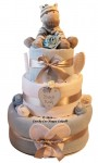 Blue baby boys luxury nappy cake baby shower gift