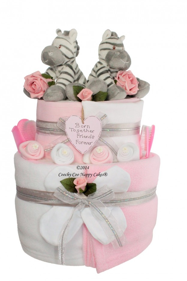 Baby Gift Cakes Uk : Baby twins gifts coochycoo nappy cakes ltd new