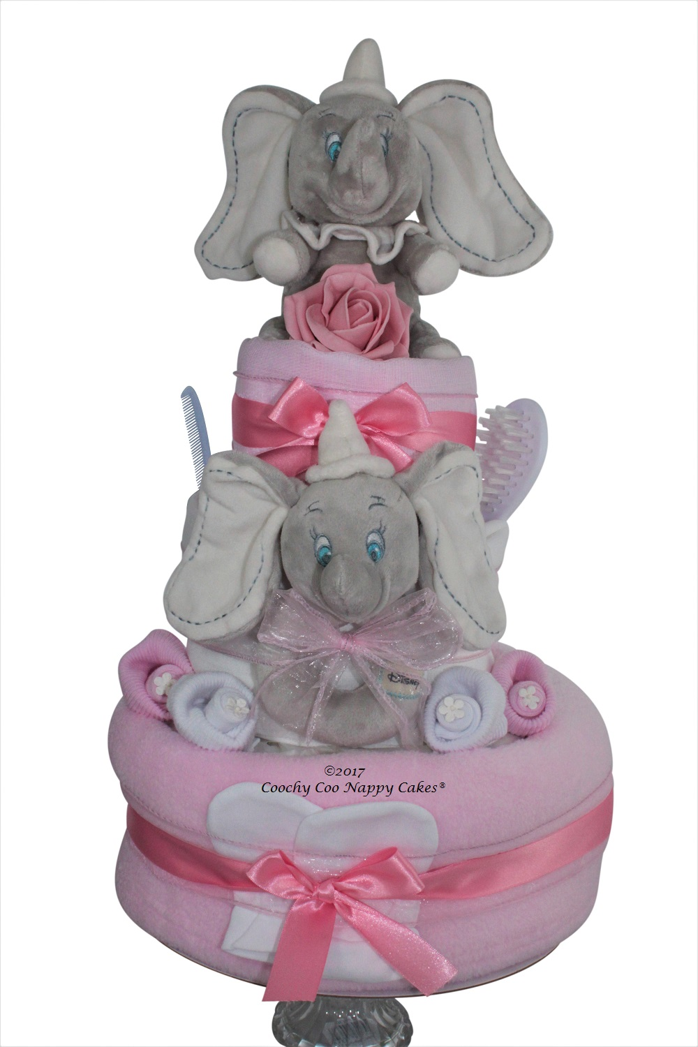 Dumbo deluxe baby girl nappy cake