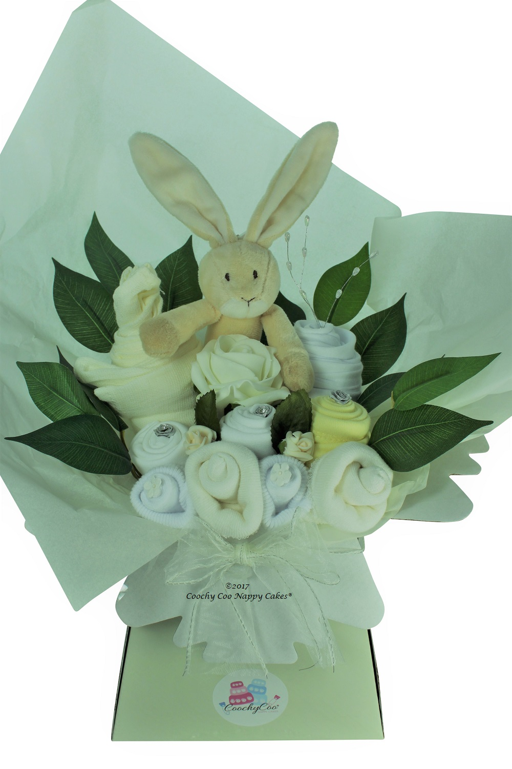 baby flowers clothes bouquet and toy gift