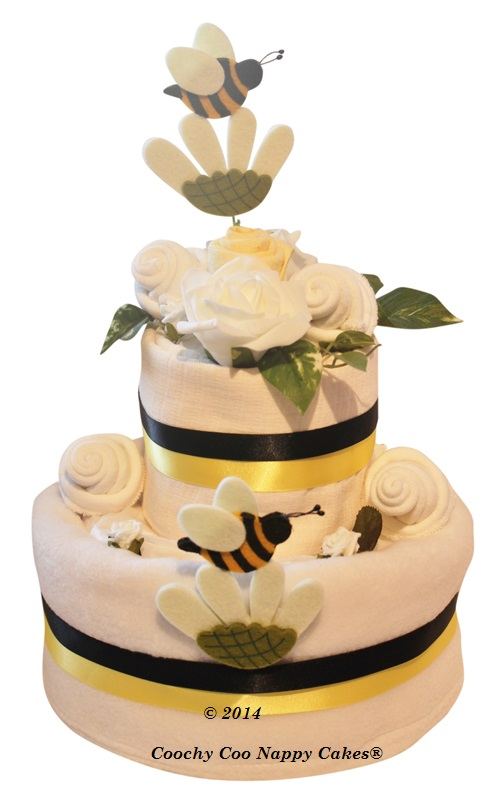 A he or she what will you bee? Guess the gender baby shower nappy cake