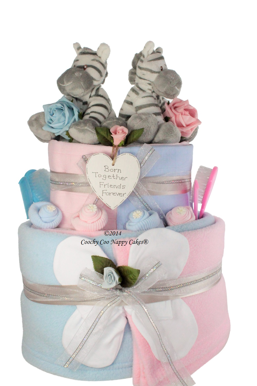 Twin Baby Nappy Cakes