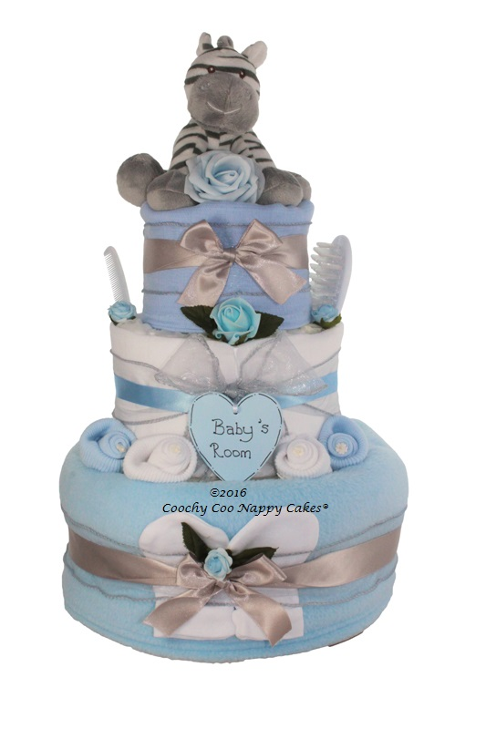 2 Tier Nappy Cake Nappy Cake Gift Baby Shower Unisex Nappy Cake Gift Baby Unisex Themed Guess How Much I Love You Nappy Cake New Baby Gift idea