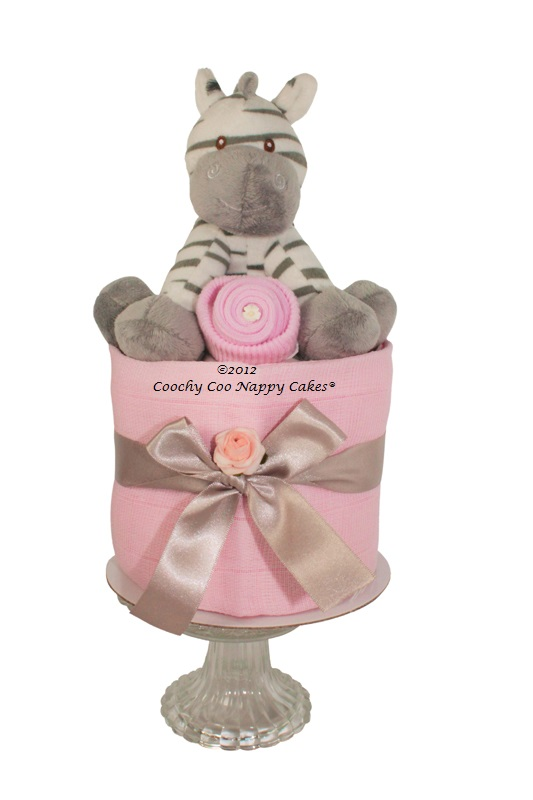 zebra girls mini nappy cake ©