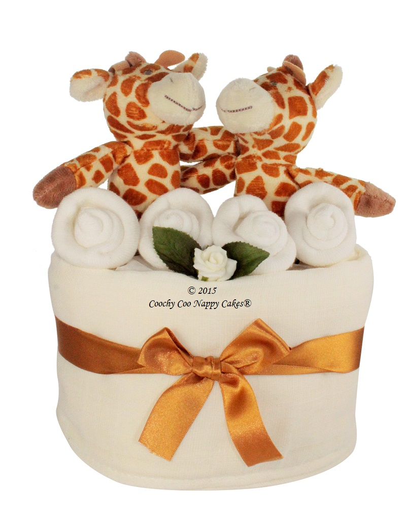 mini twins nappy cake