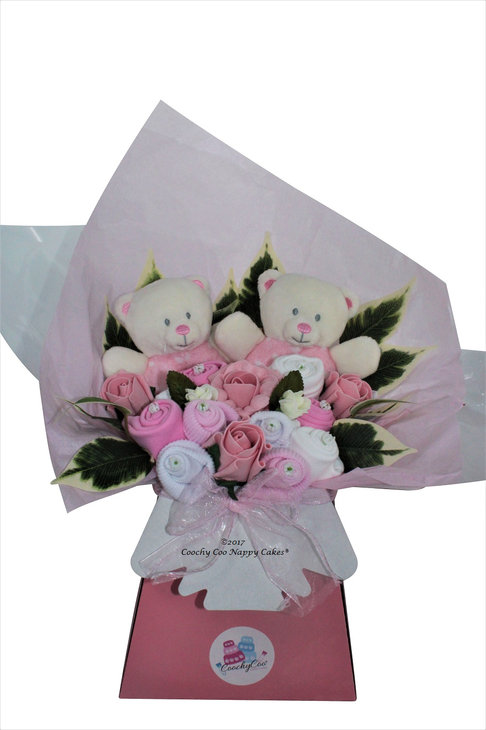 twin baby girl clothes bouquet