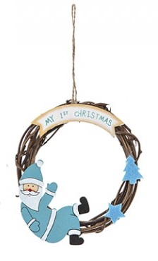 Boys 1st Christmas wreath