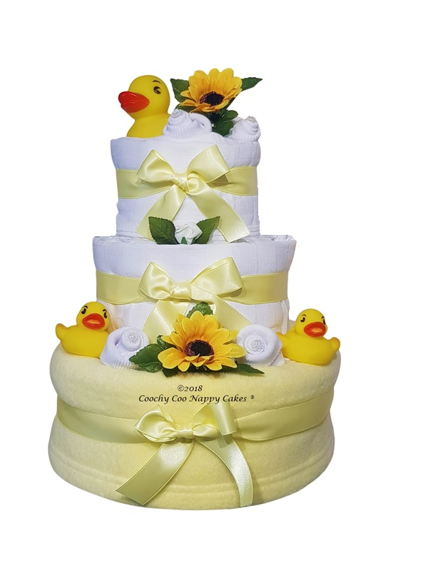 Baby duck nappy cake baby gift