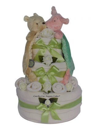 Pooh and Piglet Nappy Cake