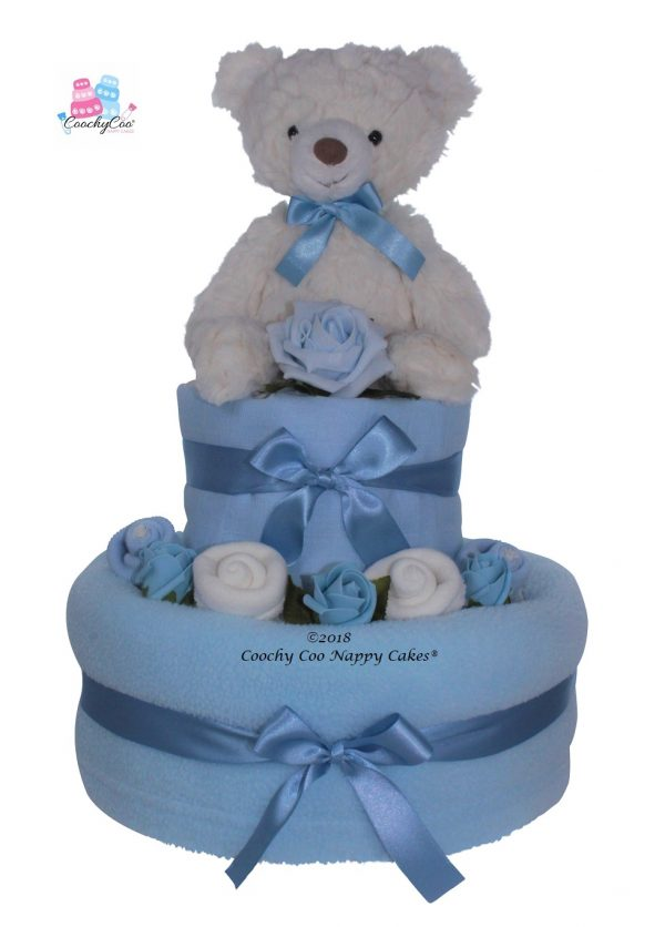 eddy baby boy 2 tier nappy cake