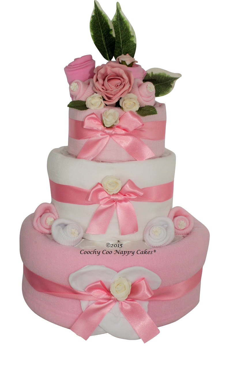 baby girl clothes nappy cake gift